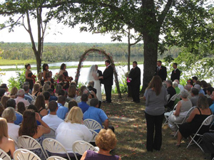 Wedding Ceremony at Locust Grove